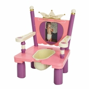 "Her Majesty's Throne ""Princess"" Wooden Potty Training Chair by Levels of Discovery"