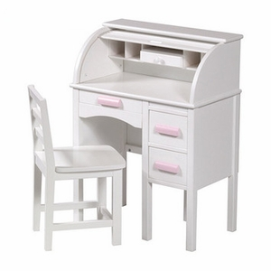 JR Roll Top Desk White by Guidecraft