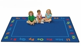 Alphabet Rectangle Classroom Rug by Carpets for Kids