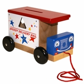 Mail Truck Wooden Toy by Holgate Toys
