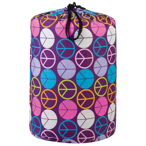 Peace Signs - Purple Sleeping Bag by Wildkin