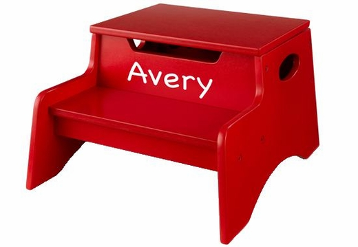 Personalizable Multi-Use Red Toddler Step Stool by KidKraft