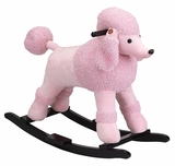 Small Pink Poodle Plush Rocker with Sound by Charm Co.