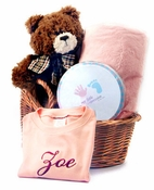 The Name Your Toddler Personalized Gift Basket (Different Colors Available)