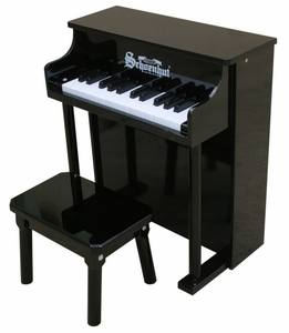 Traditional Spinet Piano in Black 25 Key by Schoenhut