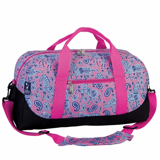 Watercolor Ponies Pink Sleepover Duffel by Wildkin