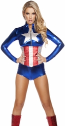 All American Temptress Costume, Fourth of July Costumes, Superhero Costumes