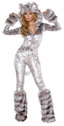 Sexy American Werewolf Catsuit, Wolf Costume, Wolf Catsuit, Grey Wolf Costume