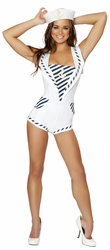 Anchors Away Sailor Romper Costume, Sailor Romper, Adult Sailor Costume, Adult Sailor Halloween Costume