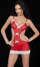 Apron Style Red Babydoll