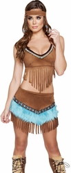 Native American Sexy Halloween Costumes, Women's Indian Costumes, Indian Warrior Costume