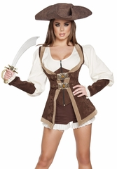 Beautiful Pirate Maiden Costume, Sexy Pirate Costume, Pirate Costume for Women