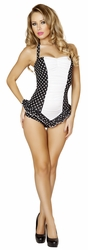 New Spring Fashion, Scrunched Front Pinup Romper, Poolside Wear