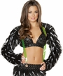 Black and White Spike Faux Fur Shrug