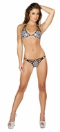 Black and White Triple Strap Bikini Set, Roma 3106, Exotic Dancewear