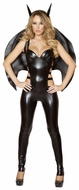 Bat Woman Costume, Bat Halloween Costume, Bat Bodysuit, Black Bat Body Suit
