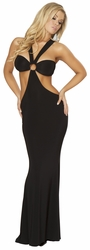Roma 3160, Black Long Dress, Floor Length Black Dress