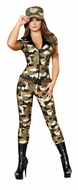 Camo Cutie Costume, Women's Halloween Army Costume, Military Women's Costume