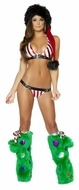 Striped Buckle Bikini Set, Candy Cane Bikini Set, Christmas Bikini Outfit, Christmas Costumes