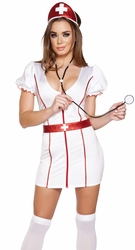 High Quality Of Nurse Halloween Costumes, Sexy Nurse Costume: Naughty Nurse Halloween Costumes for Adults