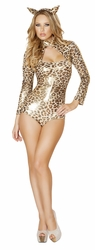 Cheeky Cheetah Costume, Roma 4509, Cheetah Print Romper, Animal Costume for Women