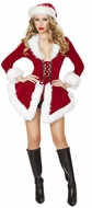 Santa Jacket for Women, Chic Santa Women's Costume