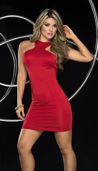 Draped Red Mini Dress, Valentine's Dress, Clubwear