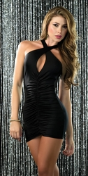 Criss Cross Keyhole Mini Dress, Little Black Dress, Party Dress