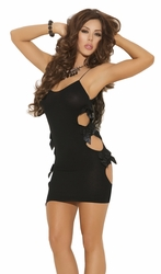 Opaque Lingerie Mini Dress, Sexy Mini Dress with Cutouts, Elegant Moments 1426