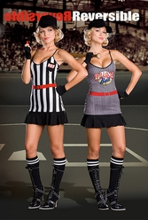 Double Play Sports Costume, Sports Halloween Costumes for Women, Referee Halloween Costume