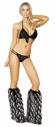 Double Strapped Bottom with Fringed Halter Top, Roma Costume 3114