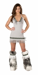 Fringe Eskimo Dress, Sexy Eskimo Dress, Eskimo Costume Dress