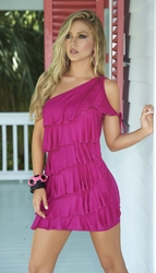 Fuschia Mini Dress, Summer Dresses, Beach Wear