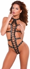 Faux Leather Lace Up Teddy