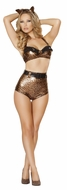 Femme Fatale Feline, Top and High Waisted Shorts, Roma Feline 4511