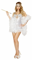 Femme Fatale Flapper Costume, 20's Women Dress Costume, Roma Flapper Sequin Costume