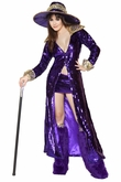 Flashy Pimp Costume, Adult Women Halloween Costume, Pimp Costume