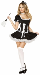 French Maid Costume, Four Piece Mischievous Maid Costume