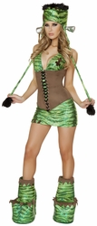 Frankenstein's Monster Costume and Waist Cincher, New Halloween Costume, J Valentine CA112