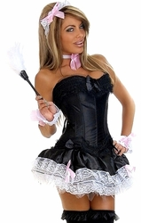 French Maid Costume, Sexy French Maid Costume, Sexy Maid Corset Costume