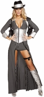 Gorgeous Gangster Costume, Lady Gangster Costume, Womens Gangster Costume