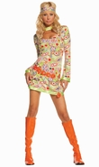Groovy Chick Costume, New Halloween Costume, Hippie Halloween Dress