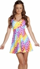 Heart Print A-Line Mini Dress
