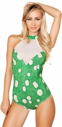 Daisy and Grass Romper, Grass Bodysuit by Roma 3294, Rave Outfits