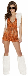 Orange Hippie Chick Costume, Peace Baby Hippie Costume, Hippie Chic