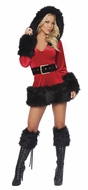 Hooded Christmas Dress, Women's Christmas Costume, Holiday Outfit For Women