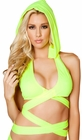 Hooded Wrap Around Halter Top