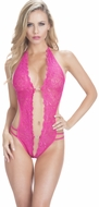 Lace Teddy, Crotchless Pink Teddy, Exotic Teddy, 3182 Teddy