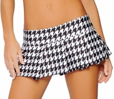 Pleated Skirts, Pleated Houndstooth Skirt 1303H, Dancer Micro Skirt