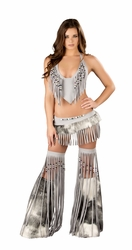 Deluxe Sexy Silver Indian Costume, Native American Halloween Costume